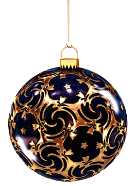 Christmas Bauble with Ornaments PNG
