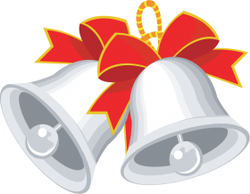 Christmas Bell with Ribbons PNG