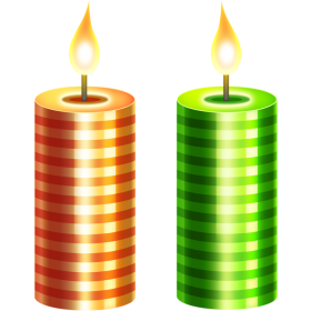 Two Christmas Candle PNG