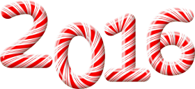 2016 Christmas Candy Cane PNG