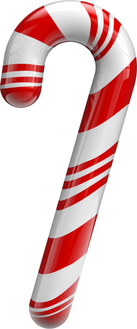Traditional Christmas Sugar Cane PNG