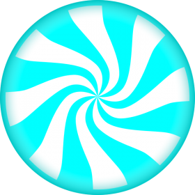 Blue Striped Lollipop PNG