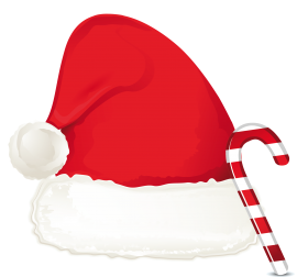Christmas Hat with Candy Cane PNG
