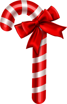 Red White Striped Christmas Candy PNG