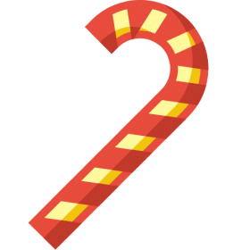 Striped Christmas Candy PNG