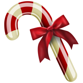 Christmas Candy with Bow PNG