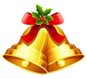 Christmas Bell Golden PNG