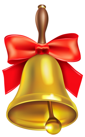 Christmas Bell with Bow PNG