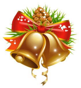 Celebration Christmas Bell with Pine PNG