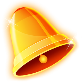 Golden Christmas Bell PNG