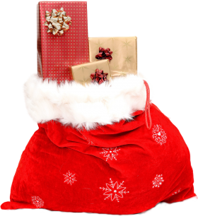 Christmas Sack with Gifts PNG