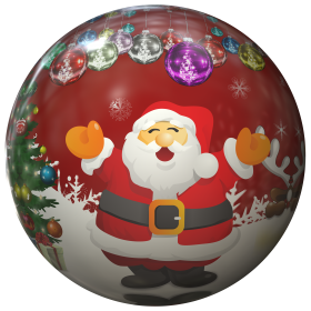 Christmas Bauble with Santa Claus PNG