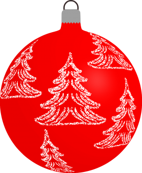 Christmas Bauble with Christmas Trees PNG