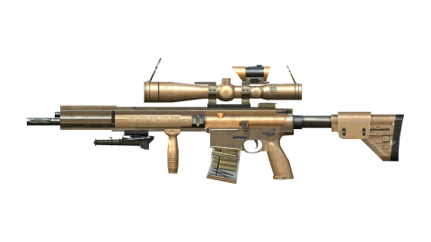 Chrome Sniper with scope PNG