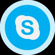 Circled Skype Logo PNG