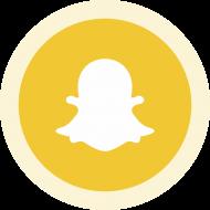 Circled Snapchat Logo PNG