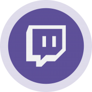 Circled Twitch Logo PNG