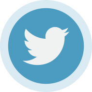 Circled Twitter Logo PNG