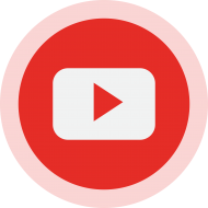Circled YouTube Logo PNG