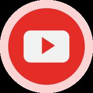 Circled YouTube Logo PNG