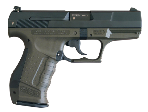 Classic 9mm Greenish GUn PNG