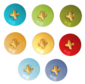 Cloth Buttons Multi Color PNG