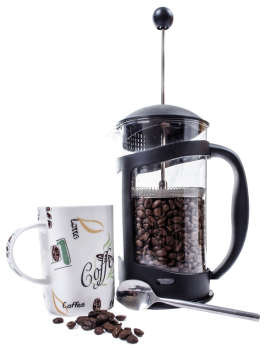 Coffee Grinder and Coffee Cup PNG