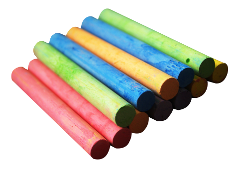 Color Chalk Piece PNG