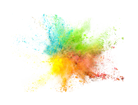 Colorful Powder Explosion PNG
