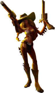 Cowgirl Miss fortune PNG