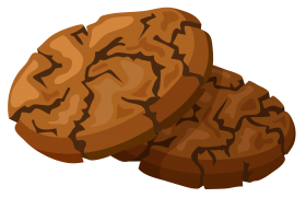 Cracked Cookies Clipart PNG