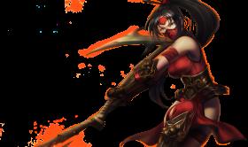 Crimson Akali Splashart Updated PNG