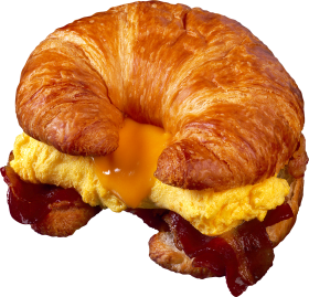 Croissant with omellette PNG