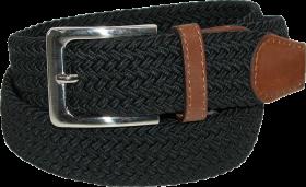 Ctm Mens Elastic Silver Buckle  Belt PNG
