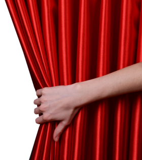 Hand Opening Curtain PNG