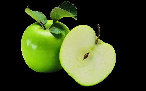 Cut Green Apple PNG