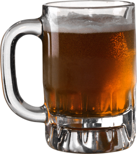 Dark Beer in Glass PNG