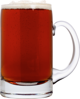 Dark Beer in Glass PNG