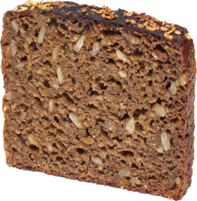 Dark Bread Slice PNG