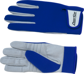 Deep See Blue Gloves PNG
