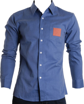Denim Blue Full Plain Shirt PNG