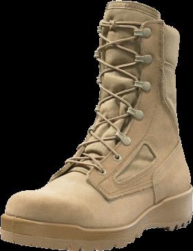 Desert Tan Combat Boots PNG