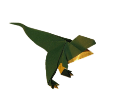 Dinosaur Origami PNG