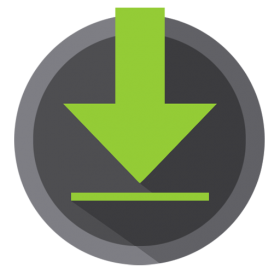 Downloads Icon Android Kitkat PNG