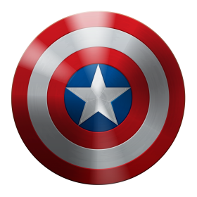 Ecellent Captin America Shield PNG