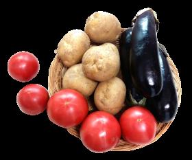 Eggplant Tomato Potato PNG