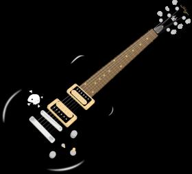Electric Guitar Black PNG