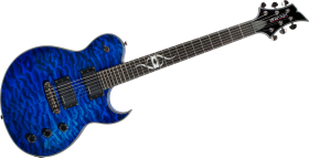 Electric Guitar Blue PNG