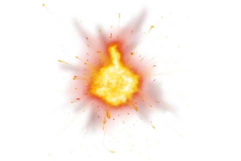 Dangerous Hot Fire Explosion PNG
