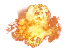 Hot Dangerous Fire Explosion PNG